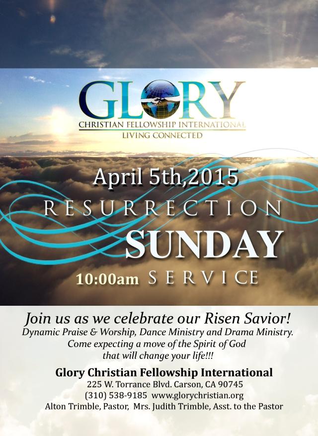 Resurrection Sunday 2015 Flyer no postage