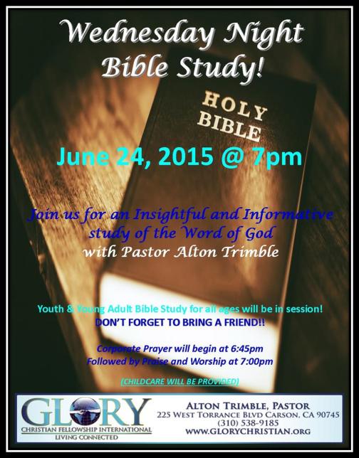 Bible Study 6-24-15