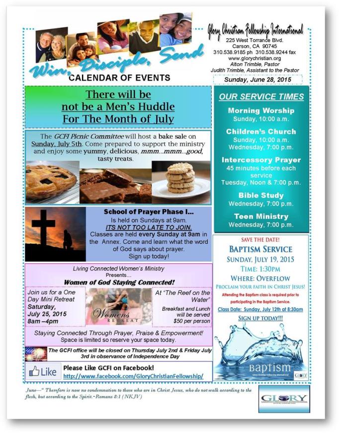 Weekly Bulletin - 6-28-15 1