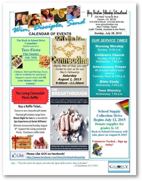 Bulletin 7-26-15