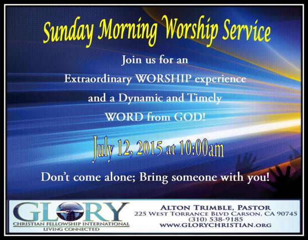 Sunday Service 7-12-15