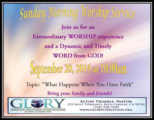 Sunday service 9-20-15