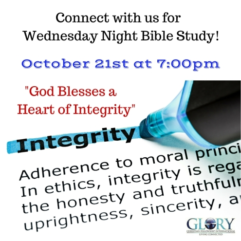 Connect with us for Wednesday Night Bible Study
