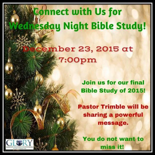 12.23.15 Bible Study