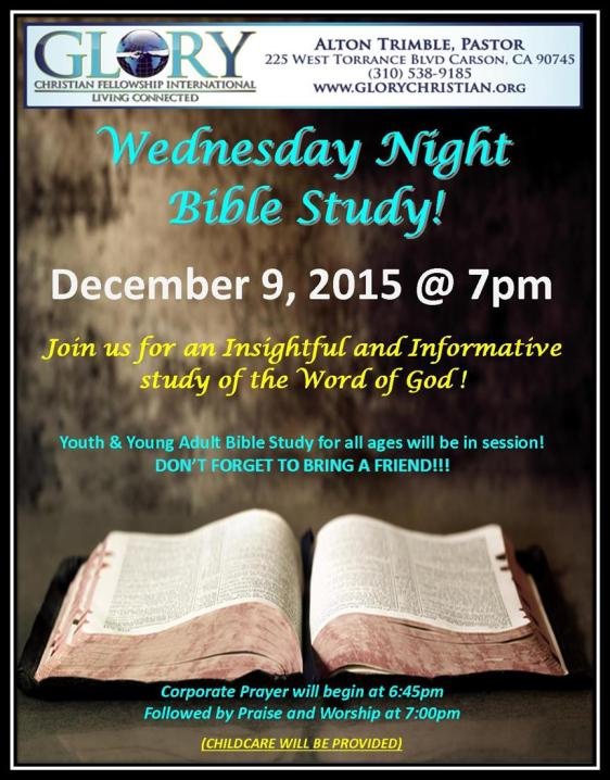 Wednesday Night Bible Study 12-9-15 w border