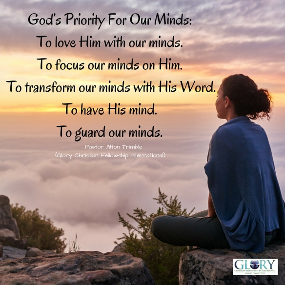 God's Priority For Our Minds