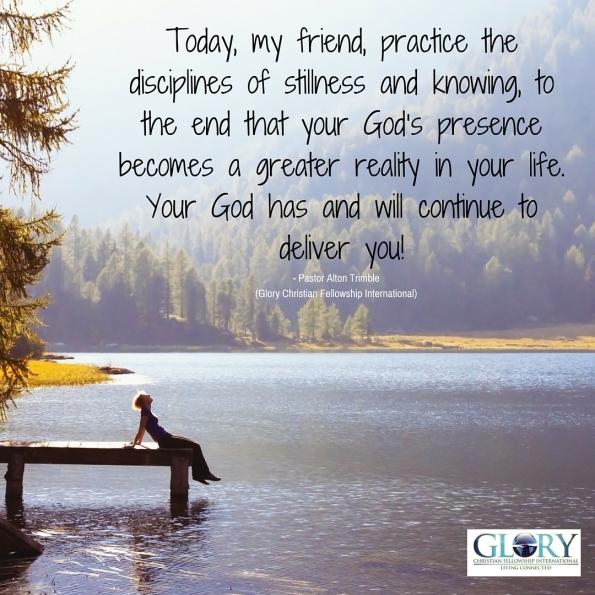 Be Still; He is God!