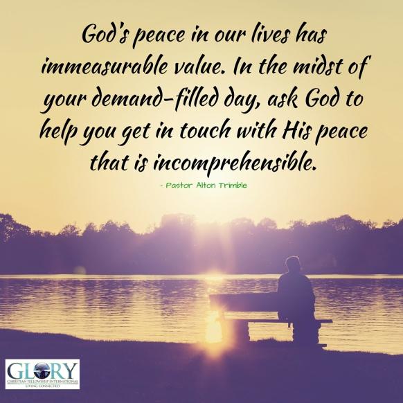 Embracing God's Peace!