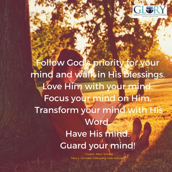God's Priority For Your Mind!