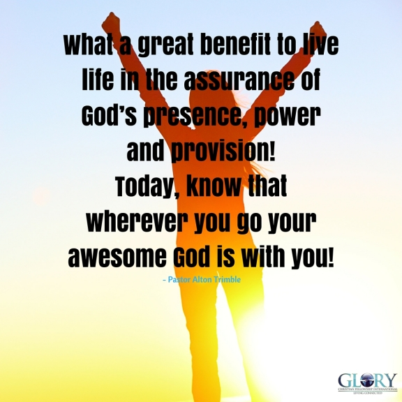 Our Blessed Assurance In Our God!